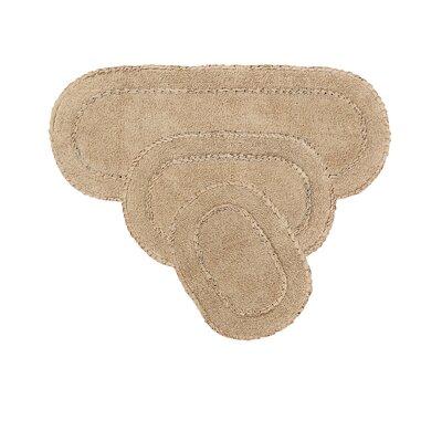 Andruska Double Ruffle 3 Piece Bath Rug Set Color: Linen