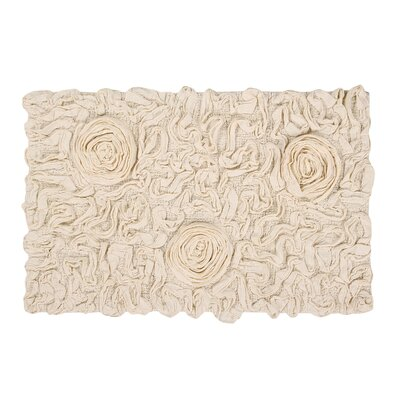 Bell Flower Bath Rug Size: 21 W x 34 L, Color: Natural