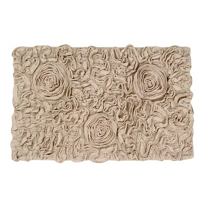 Bell Flower Bath Rug Size: 21 W x 34 L, Color: Beige