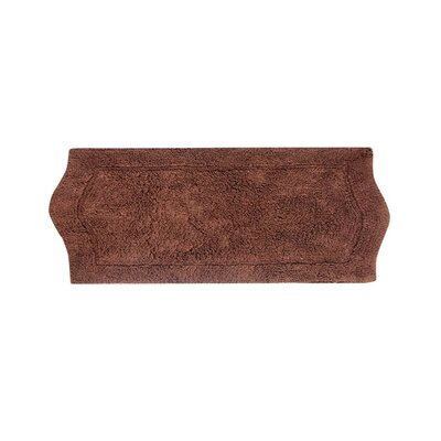 Shera Bath Rug Size: 22 W x 60 L, Color: Chocolate