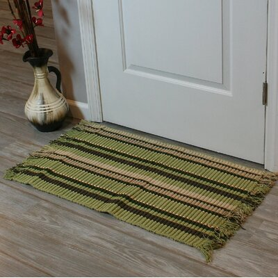 Baldock Silk Ribbed Hand-Woven Light Green Area Rug