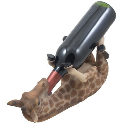 Dacey Faux Giraffe 1 Bottle Tabletop Wine Rack