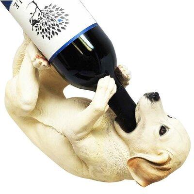 Alijah Faux Puppy Dog Lab Retriever 1 Bottle Tabletop Wine Rack