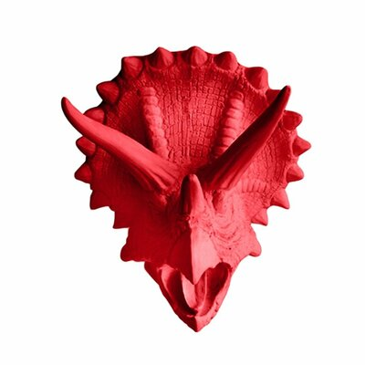 Michaels Topps Triceratops Faux Taxidermy Color: Cardinal Red
