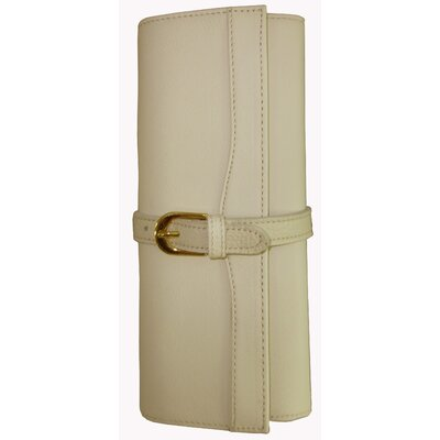 Leather Jewelry Roll Color: Off-white