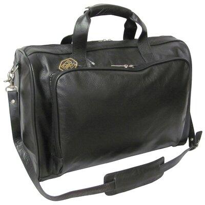 """18"""" Leather Weekender Duffel Color: Black"""