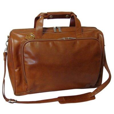 """18"""" Leather Weekender Duffel Color: Brown"""