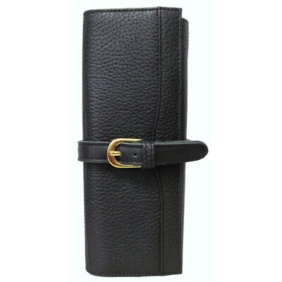 Leather Jewelry Roll Color: Black