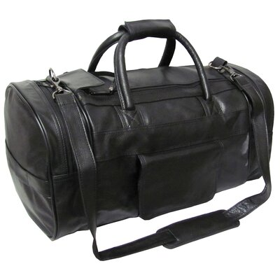 "21"" Leather Travel Duffel"