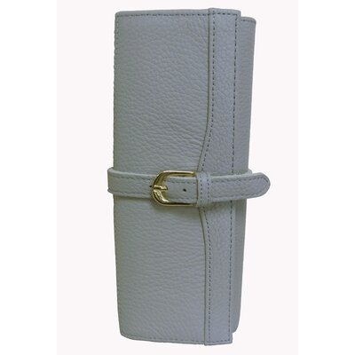 Leather Jewelry Roll Color: Light Grey