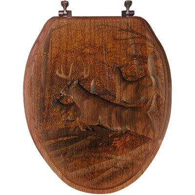 WGI Gallery Maple Rush Oak Elongated Toilet Seat