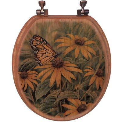 WGI Gallery Monarch Butterfly Oak Round Toilet Seat
