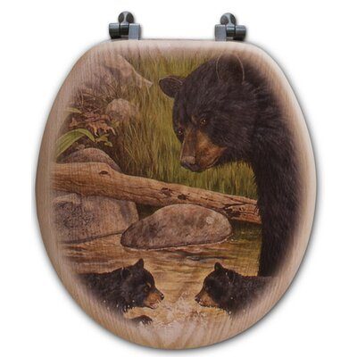 Bear Creek Gang Oak Round Toilet Set