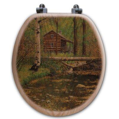 Autumn Hideaway Oak Round Toilet Seat
