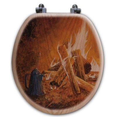 WGI Gallery Evening Campfire Oak Round Toilet Seat