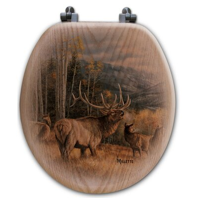 Meadow Music Oak Round Toilet Seat