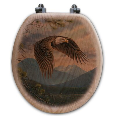 Majestic Moment Oak Round Toilet Seat