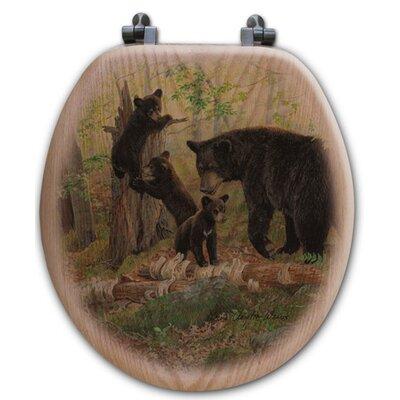 Playtime Bears Oak Round Toilet Seat