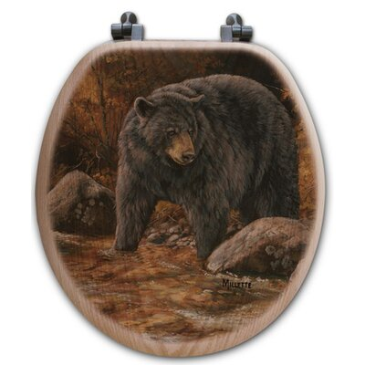 Streamside Bear Oak Round Toilet Seat