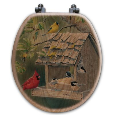 Summer Feast Oak Round Toilet Seat