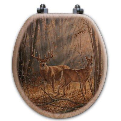 Woodland Splendor Oak Round Toilet Seat