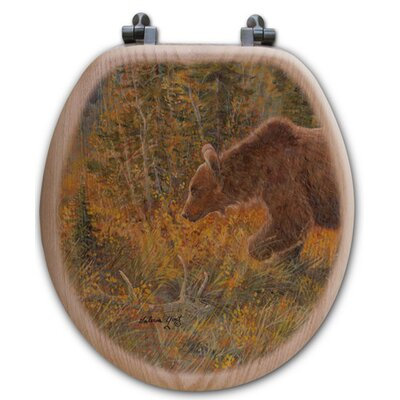 The Grizzly Walk Oak Round Toilet Seat