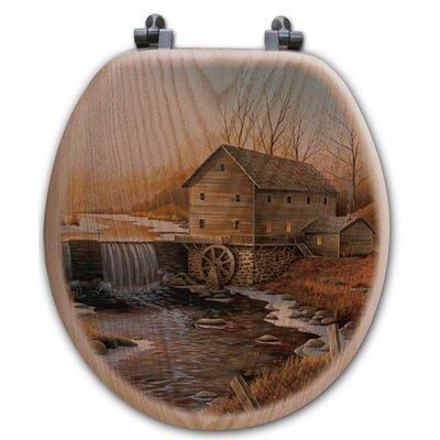 The Old Mill Oak Round Toilet Set