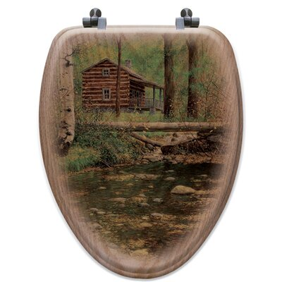 Autumn Hideaway Oak Elongated Toilet Seat