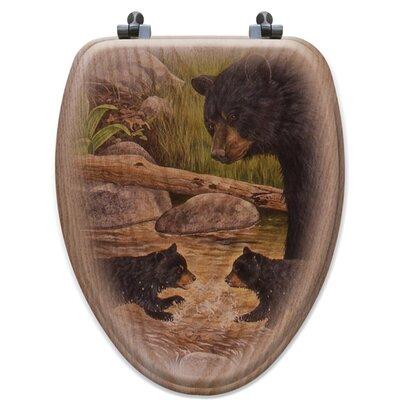 Bear Creek Gang Oak Elongated Toilet Seat