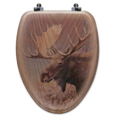 Chocolate Moose Oak Elongated Toilet Seat