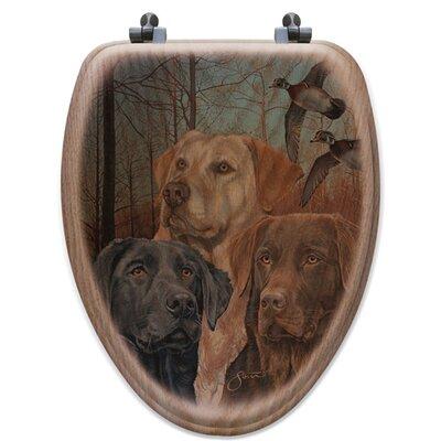 Lab Trio Oak Elongated Toilet Seat