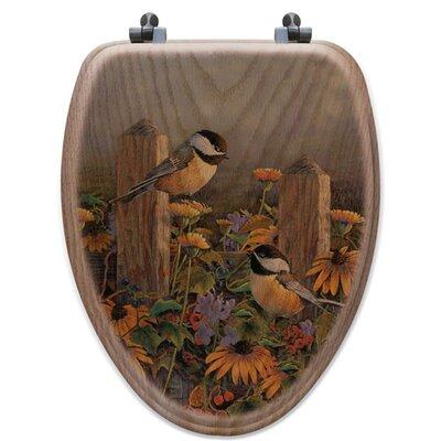Seat Lakeland Sunset Oak Elongated Toilet Seat
