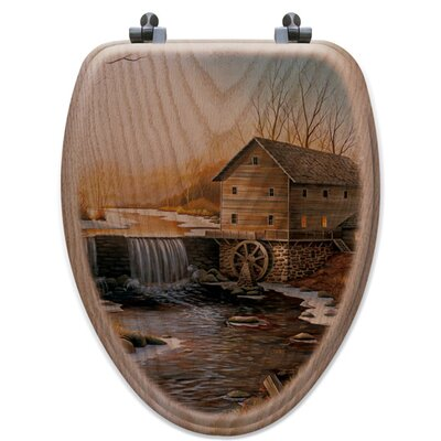 The Old Mill Oak Elongated Toilet Seat