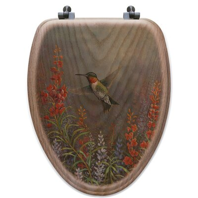 Summer Hummer Oak Elongated Toilet Seat