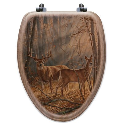 Woodland Splendor Oak Elongated Toilet Seat