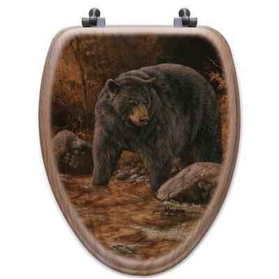 Streamside Bear Oak Elongated Toilet Seat