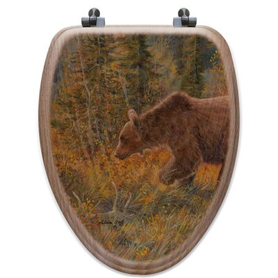 The Grizzly Walk Oak Elongated Toilet Seat