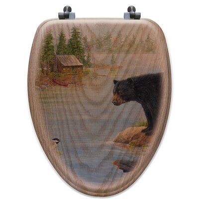 Misty Morning Encounter Oak Elongated Toilet Seat