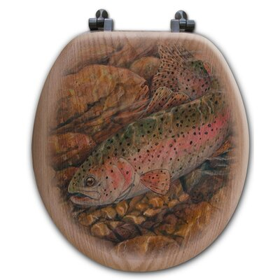 Rainbow Trout Toilet Seat Shape: Round
