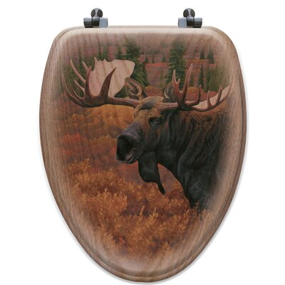 Denali Autumn Moose Toilet Seat Shape: Elongated
