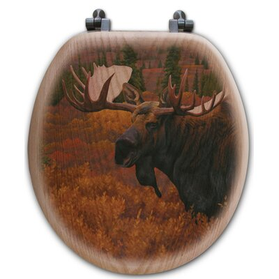 Denali Autumn Moose Toilet Seat Shape: Round