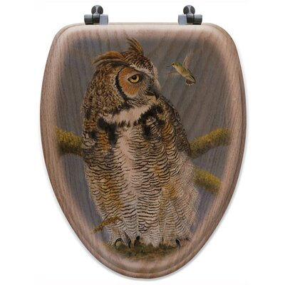 Fearless Owl and Hummingbird Toilet Seat Shape: Elongated