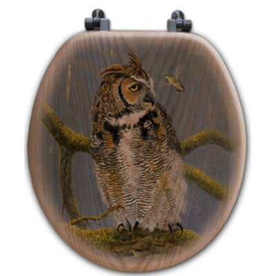 Fearless Owl and Hummingbird Toilet Seat Shape: Round