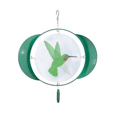 Animated Hummingbird Wind Spinner