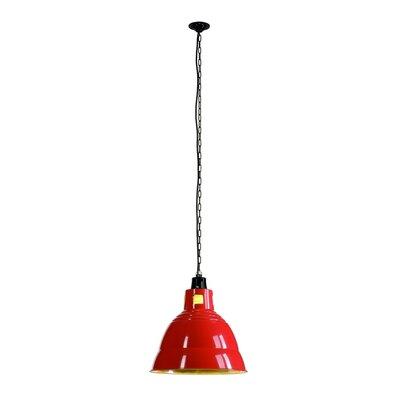 Para 1-Light Bowl Pendant Shade Color: Red