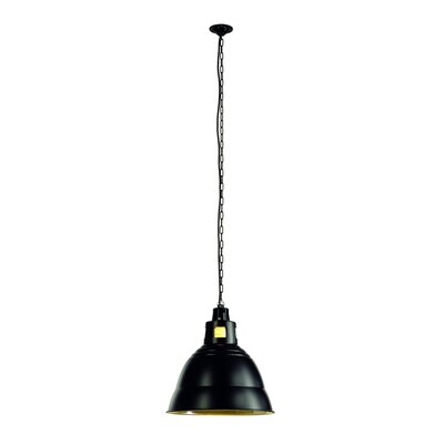 Para 1-Light Bowl Pendant Shade Color: Black