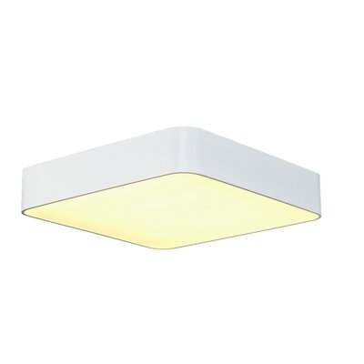 Rhymer 4-Light Flush Mount Finish: White