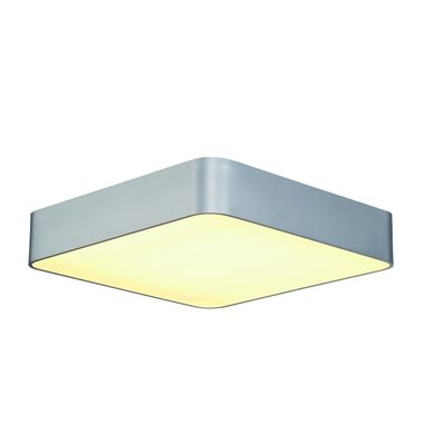 Rhymer 4-Light Flush Mount Finish: Silver Gray