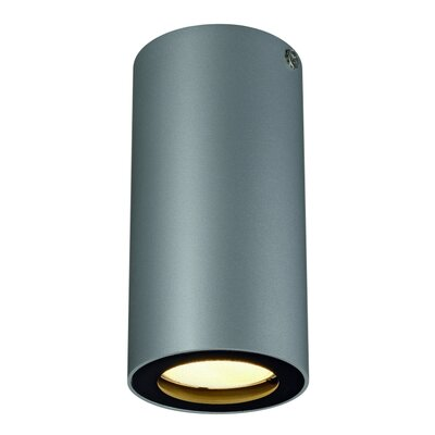Enola 1-Light Flush Mount Finish: Silver Gray and Black