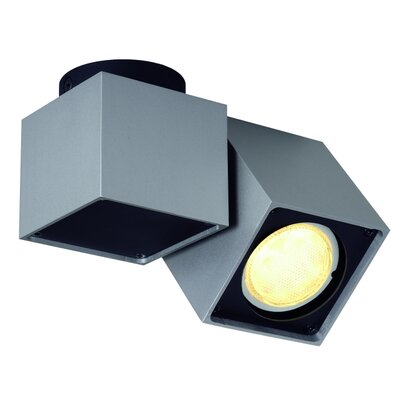Altra Dice 1-Light Flush Mount Finish: Silver Gray/Black